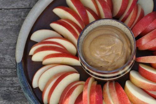 Raw Caramel Apple Dip from Nourishing Meals. One of 20 Last Minute Gluten-Free Halloween Treats [featured on GlutenFreeEasily.com] (photo)