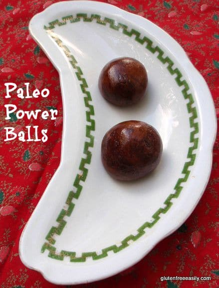 These Power Balls make the perfect pick me up! Paleo and vegan. [from GlutenFreeEasily.com]