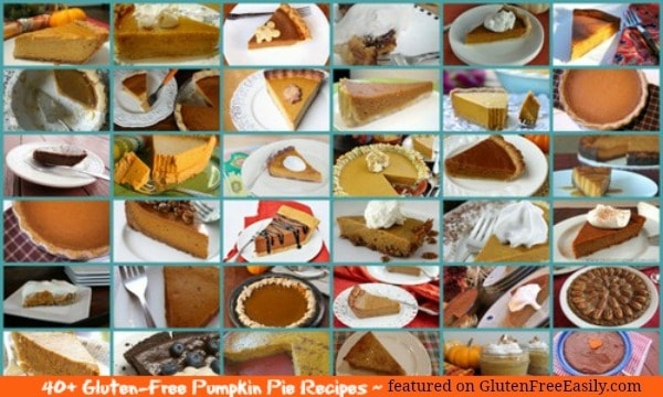 You're sure to find your new favorite perfect pumpkin pie recipe in these 40 Gluten-Free Pumpkin Pie Recipes roundup! [featured on GlutenFreeEasily.com] (photo)