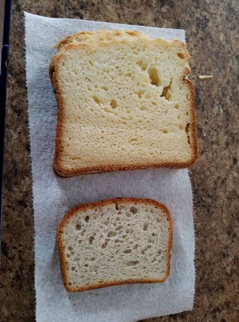 This bread compared to the popular store-bought brand. (Thanks to Cherie of Our Gluten-Free Life for this