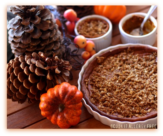 Crustless Pumpkin Streusel Pie from Cook IT Allergy Free