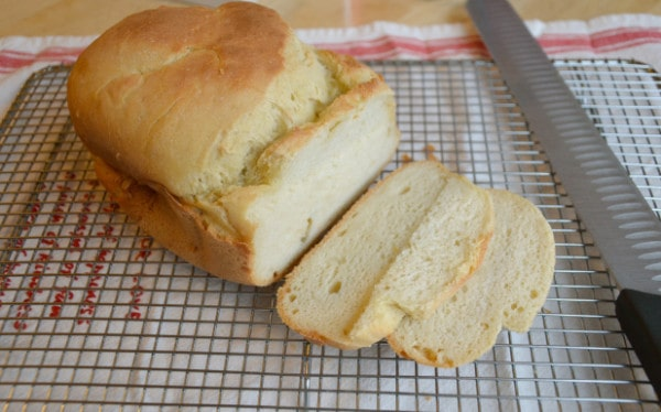 Crusty Gluten-Free Breadmaker Bread (Boule) from Celiac in the City
