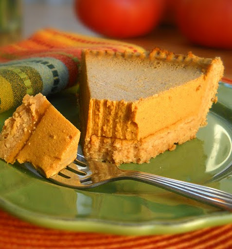 Dairy-Free, Egg-Free No-Bake Pumpkin Pie from The Spunky Coconut