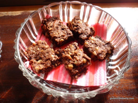 flourless brownies, triple nut brownies, triple seed brownies, gluten-free brownies