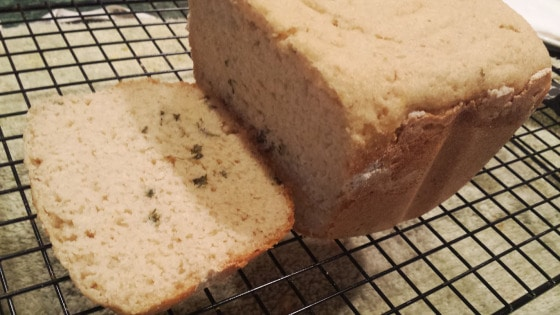 Garlic Bread Made in Bread Machine from Make Them Whole Foods