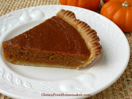 Gluten-Free, Dairy-Free Pumpkin Pie from The Gluten-Free Homemaker