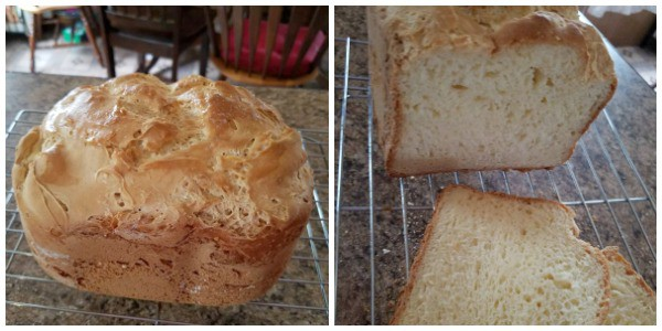 Gluten Free Loaf Bread Made In Cuisinart Cbk200 Convection Breadmaker From Our Gluten Free Life