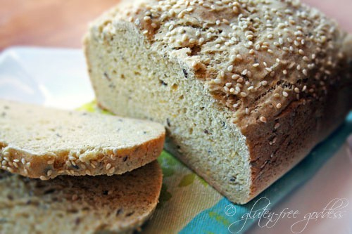 Gluten-Free Multigrain Bread made in Bread Machine from Gluten-Free Goddess
