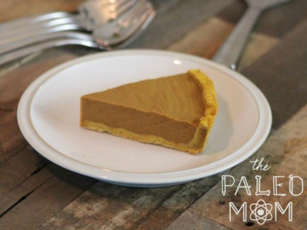 Gluten-Free Paleo AIP Pumpkin Pie from The Paleo Mom. One of 50 gluten-free pumpkin pie recipes! [featured on GlutenFreeEasily.com]
