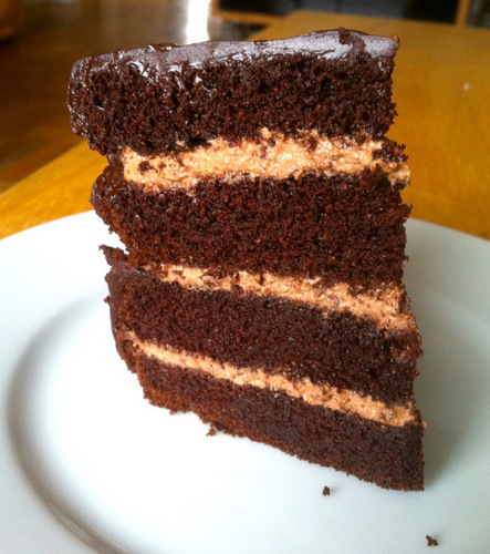 No Joke Dark Chocolate Paleo Layer Cake from Zenbelly