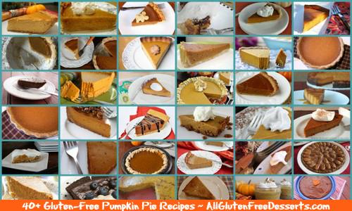 Gluten-Free Pumpkin Pie Recipes from All Gluten-Free-Desserts Collage