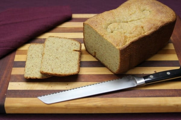 Yeast-Based Flax-Free Paleo Bread Made in Bread Machine from The Paleo Mom