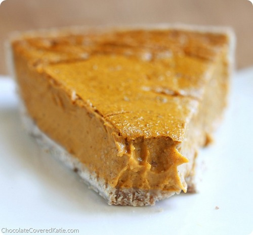 Healthy Pumpkin Pie from Chocolate-Covered Katie
