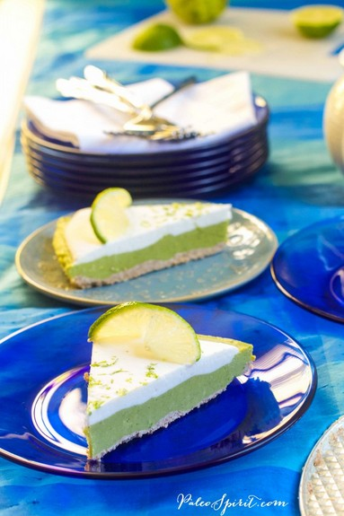 Paleo/Nut-Free/Vegan Key Lime Pie from Paleo Spirit