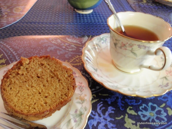 Gluten-Free Pumpkin Spice Bundt Cake Slice Gluten Free Easily