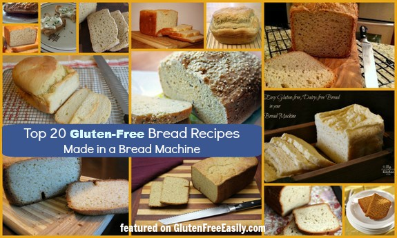 Top 20 Gluten-Free Bread Machine Recipes. Beautiful loaves of delicious gluten-free bread made in your bread machine. (photo)