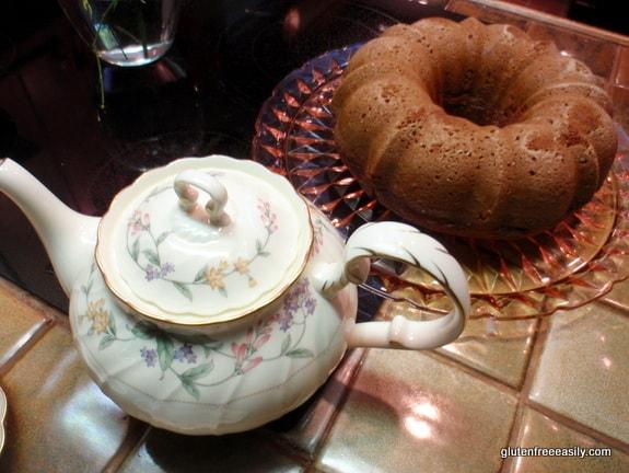 Gluten-Free Pumpkin Spice Bundt Cake with Tea from Gluten Free Easily