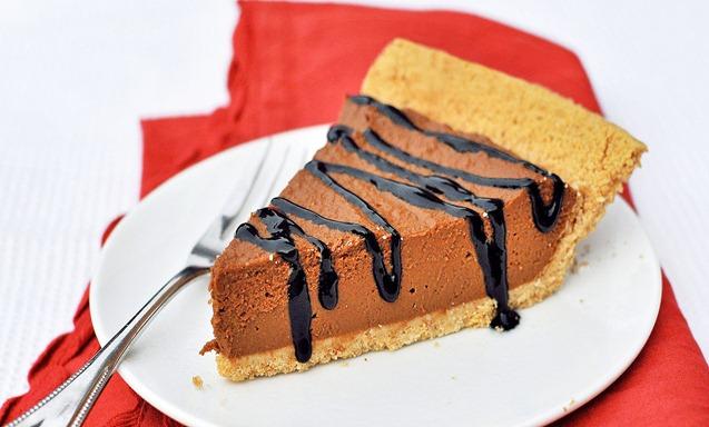 No-Bake Chocolate Pumpkin Pie from Chocolate-Covered Katie