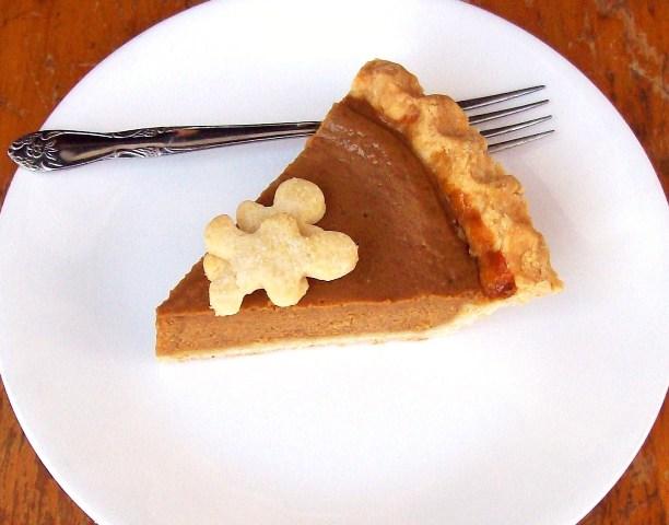 Pumpkin Pie with Pie Crust Cookies from Free Range Cookies
