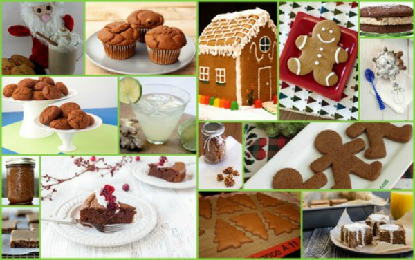 Gluten-Free Gingerbread Recipes plus other ginger-based recipes. Gingerbread men, gingerbread houses, molasses cookies, gingery beverages, and more. [featured on GlutenFreeEasily.com] (photo)