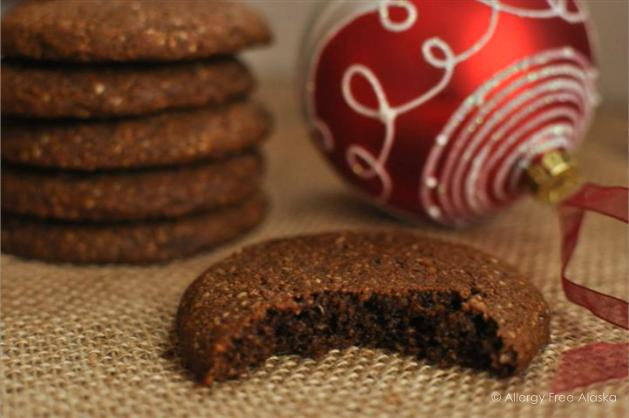 Big and Soft Paleo Ginger Molasses Cookies from Allergy Free Alaska