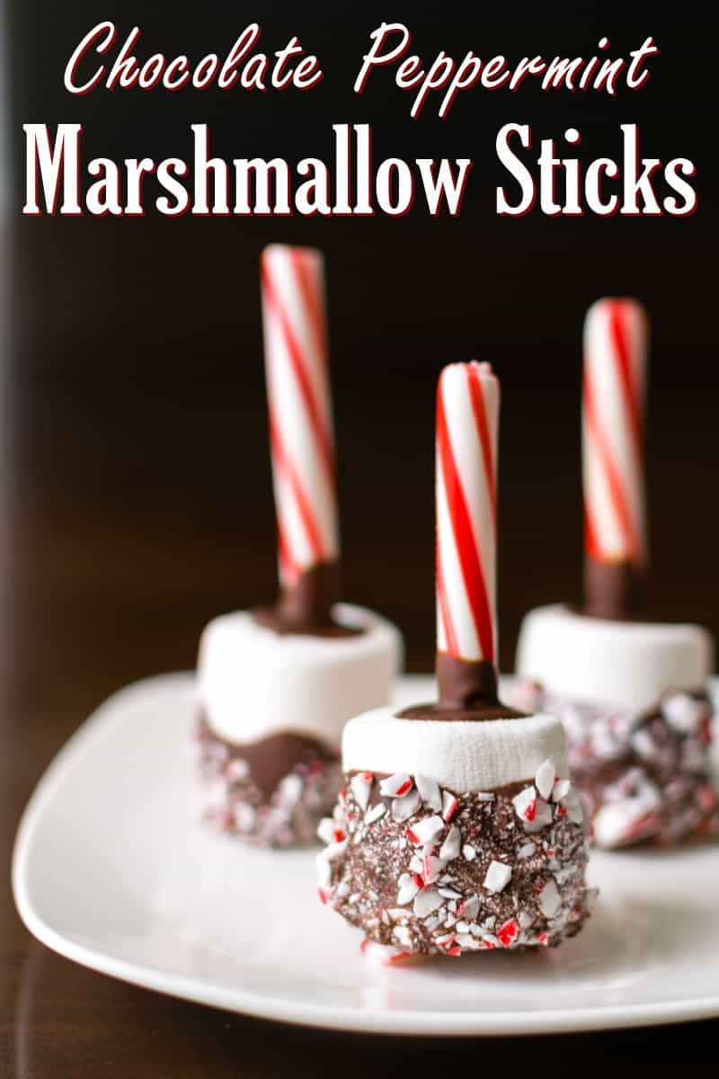 Chocolate Peppermint Marshmallow Sticks. One of 20 gluten-free candy cane and peppermint desserts featured on gfe. [from GlutenFreeEasily.com]