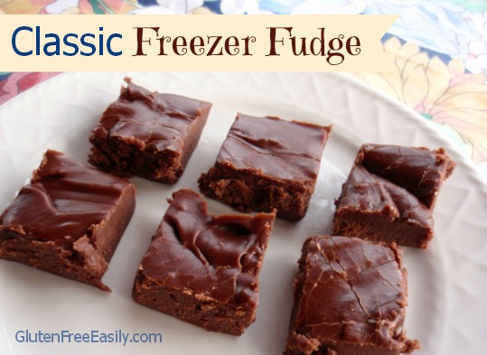 Classic Freezer Fudge Gluten Free Easily