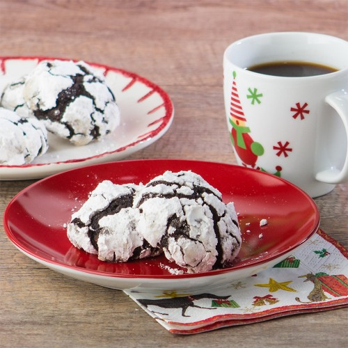 Double Chocolate Crinkle Cookies from Gluten Free Canteen