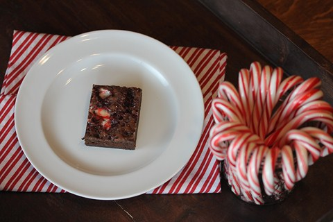 Candy Cane Brownies from Lynn's Kitchen Adventures