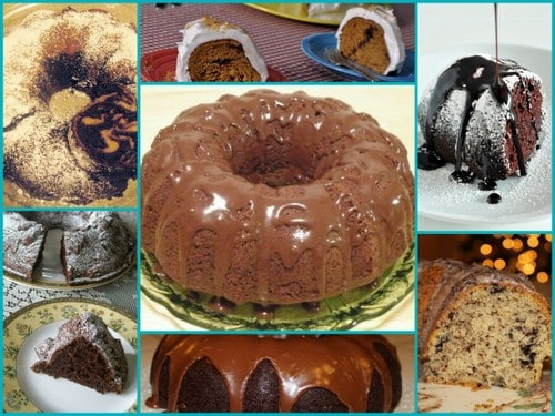 Gluten-Free Bundt Cake Recipes. Over 50 of them!! Gluten-Free Chocolate Bundt Cakes [featured on GlutenFreeEasily.com]