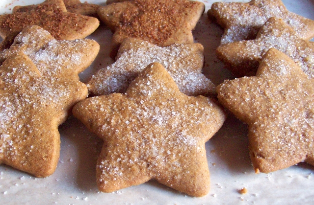 Coconut Sugar Star Cutout Cookies from Free Range Cookies