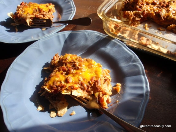 This John Wayne Mexican Casserole made with beans and tortilla chips is naturally gluten free and loved by everyone who has tried it! It's a great addition to the one-dish meal category, which is a personal favorite of mine. From Gluten Free Easily. (photo)