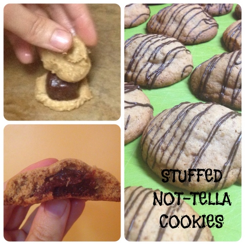 Not-tella-Stuffed Cookies from Cake Cooks Gluten Free