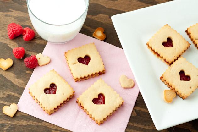 Raspberry Linzer Cookies from Healthful Pursuit