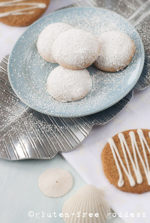 Snowy Lemon Cookies from Gluten-Free Goddess