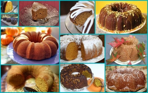 Gluten-Free Pumpkin Bundt Cakes. One of 50 Bundt Cakes. [Featured on GlutenFreeEasily.com]