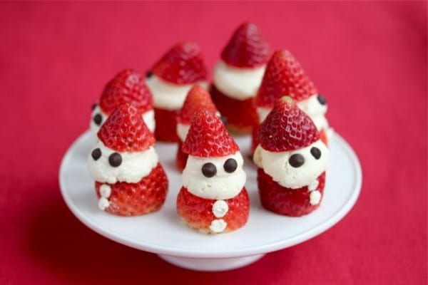 gluten-free Christmas treats, gluten-free dairy-free strawberry whipped cream Santas, Christmas recipes, holiday recipes, Jeanette Chen, Jeanette's Healthy Living