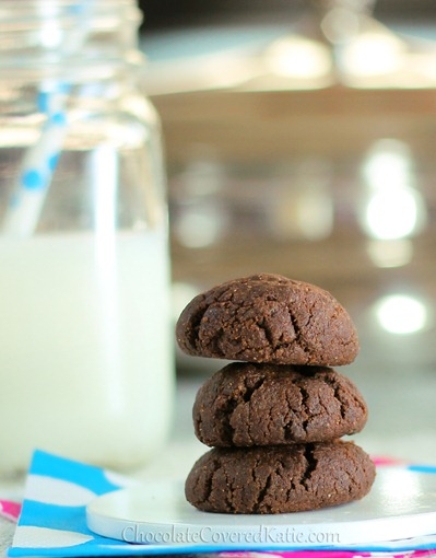 Double Chocolate Chip Brownie Cookies from Chocolate-Covered Katie