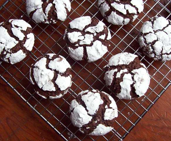 Mint Crinkles from Free Range Cookies