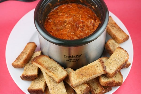 Gluten-Free Pizza Fondue from A Year of Slow Cooking