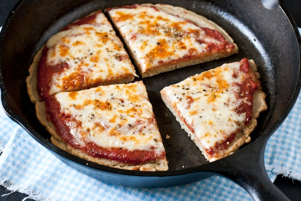 Gluten-Free Pizza Pan Bread from Edible Perspective