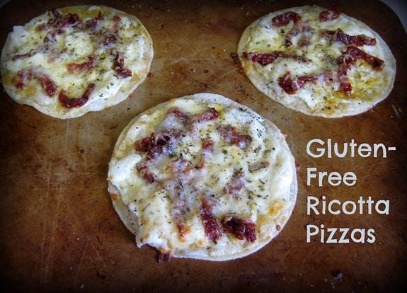 Gluten-Free Tortilla Ricotta Pizzas from Flippin' Delicious