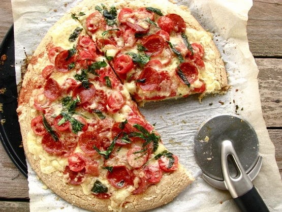Grain-Free Thick Crust Pizza from Brittany Angell