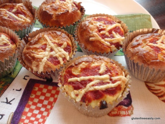 Gluten-Free Pizza Muffins from Gluten Free Easily