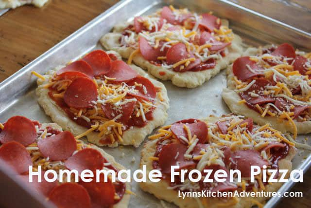 Homemade Gluten-Free Frozen Pizzas from Lynn's Kitchen Adventures