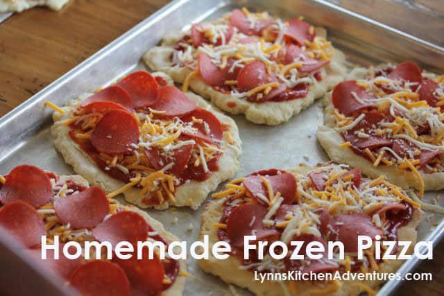 Homemade Gluten-Free Frozen Pizzas from Lynn's Kitchen Adventures