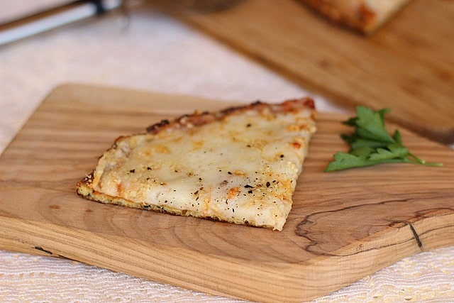 Personal Pan Cauliflower Pizza Crust Oatmeal with a Fork