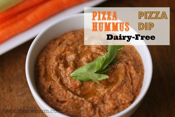 Pizza Hummus (Dip) from Whole New Mom