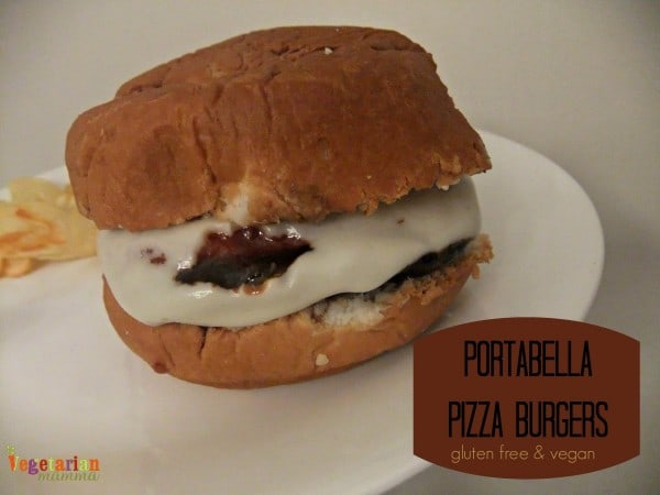 Portabella Pizza Burgers from Vegetarian Mamma