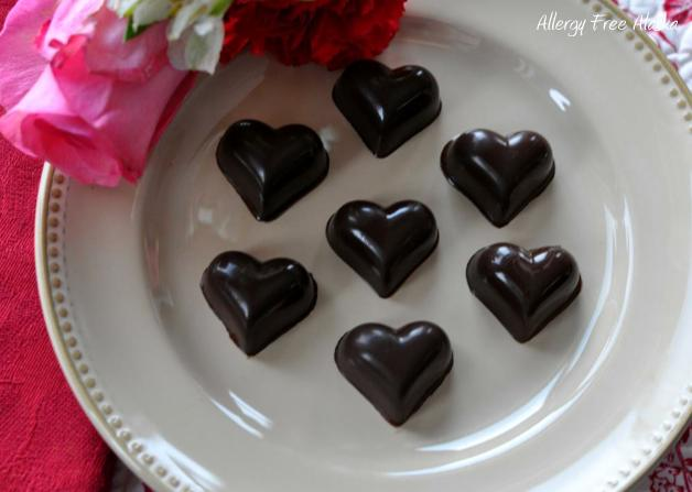 Two-Ingredient Chocolates (Heart Candie) from Allergy Free Alaska
